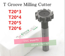 Buy Free delivery 4PCS T20*3*4*5*6 high speed steel Straight shank T groove milling cutter T type Straight shank milling cutter for $24.97 in AliExpress store
