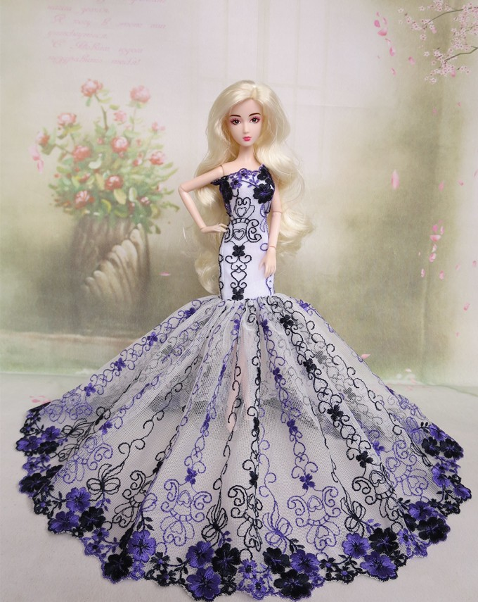 Prime quality Handmade Items For Women fishtail skirt Slim Night Go well with Marriage ceremony Gown Garments For Barbie 1:6 Doll BBI00295