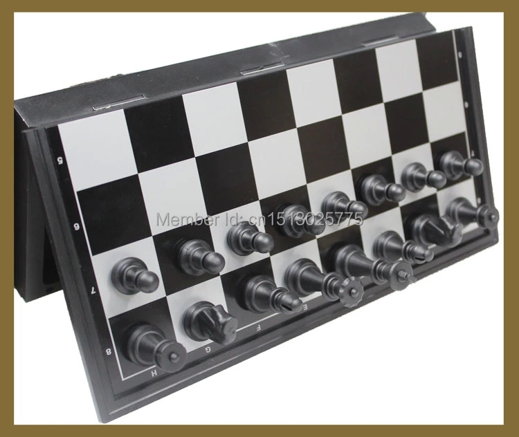 Free Shipping Magnetic Chess Pieces Set Staunton Style Chessmen Collection Portable Folding Board Chesses Game(China (Mainland))