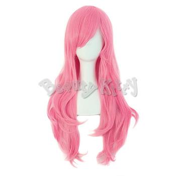 70cm Pink Harajuku Wig Long Wavy Wig