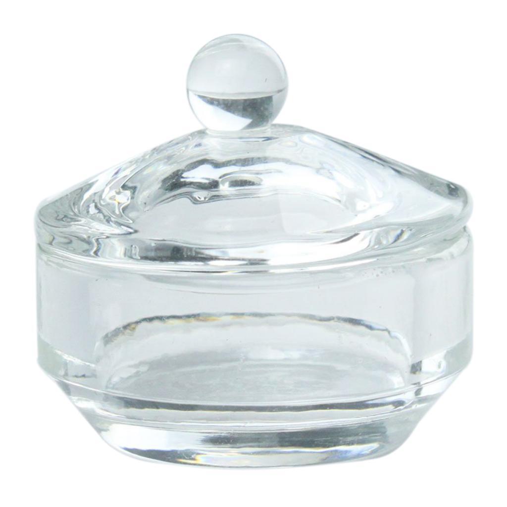 10 X 2 pcs New Nail Art Crystal Dish For Liquid Powder Tool Glass Crystal Dappen Dish Nail Art Acrylic<br><br>Aliexpress