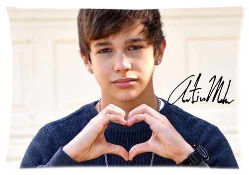 Custom Austin Mahone Star Soft Fashion Style High Quality Durable Suitbale Single Pillow Case Size 40x60cm(Twin Sides) U06-70(China (Mainland))