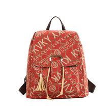 Printing New Wave of Cool Korean Fashion Casual Small Backpack Shoulder Bag Canvas Bag(China (Mainland))