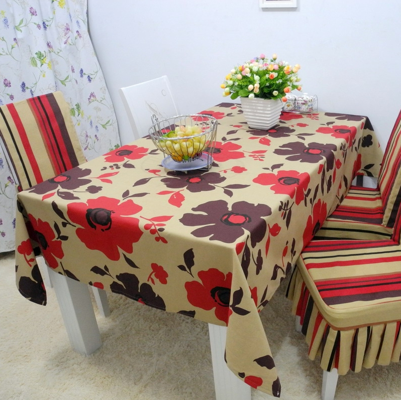 Rustic 100% cotton fabric table cloth tablecloth dining table cloth table cloth gremial one piece chair cover cushion customize(China (Mainland))
