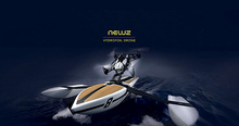 Parrot Mini Drone Hydrofoil Water Sky Dual Robot New Z Seaplane RC Boat