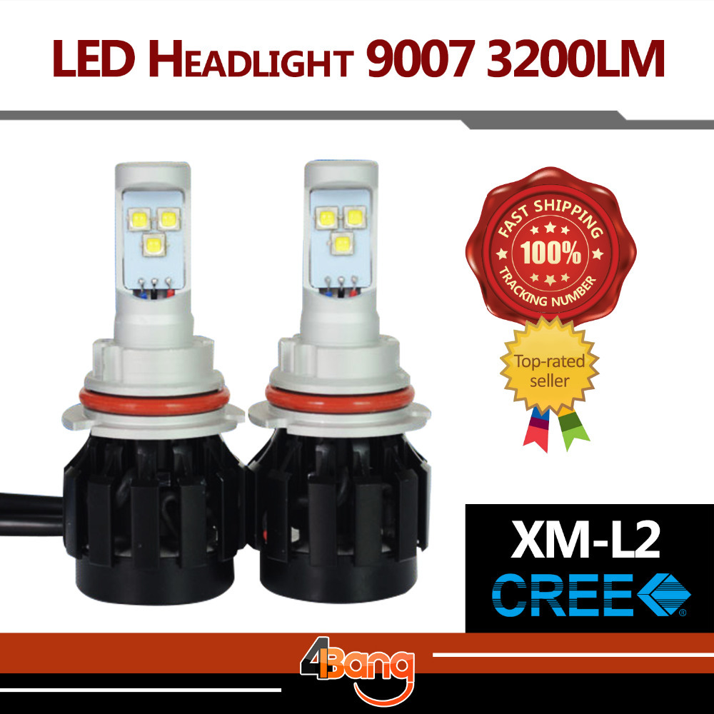 2015 Newest Generation ALL IN ONE 2x 9007 120W/Set 6400LM/Set upgrade CREE XM-L2 LED Car Headlight Lamp W/ Fans Waterproof IP67<br><br>Aliexpress