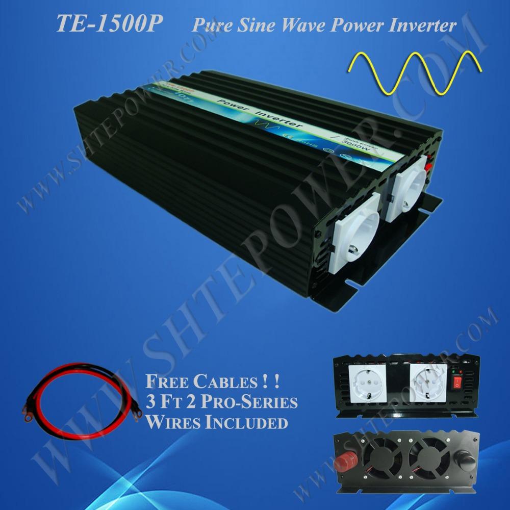 Best price power inverter 1500w 12v to 220v, solar inverter off grid pure sine wave inverter for solar panel(China (Mainland))