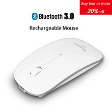 Rechargeable USB Bluetooth 3.0 Wireless Mouse Mute Silent Click Mini Noiseless Optical Mouse 1200 DPI for PC Laptop Computer(China (Mainland))