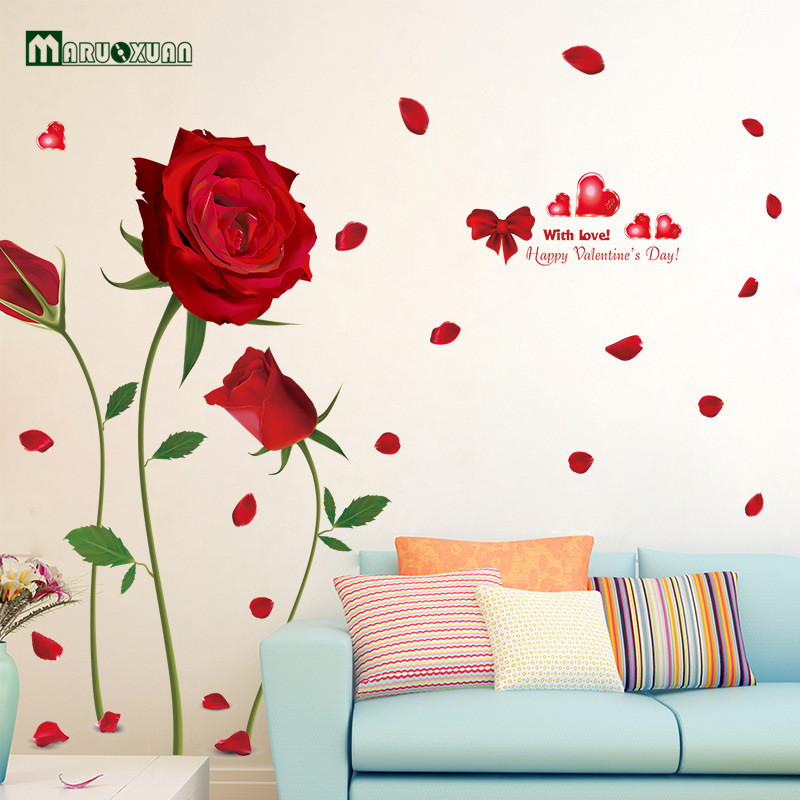 removable wall stickers romantic red roses living room bedroom wall decal sweet dreams removable vinyl lettering