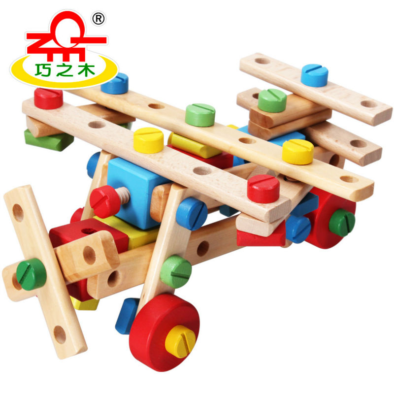 Free delivery, disassembly and assembly Toys, wooden toy, learning and education,multi-purpose nut combinations<br><br>Aliexpress