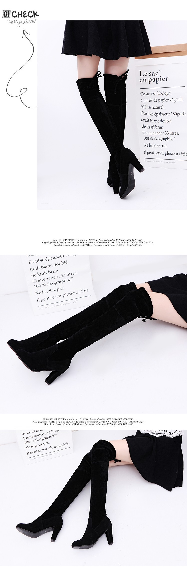 2017 designer suede slim thigh high boots woman fashion over the knee boots women shoes high heels autumn ladies winter footwear