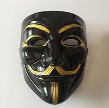 Prezzo all'ingrosso 12 pz/lotto Halloween V maschera nera parola V maschera mascherata maschera a forma di V maschera 4221.3(China (Mainland))