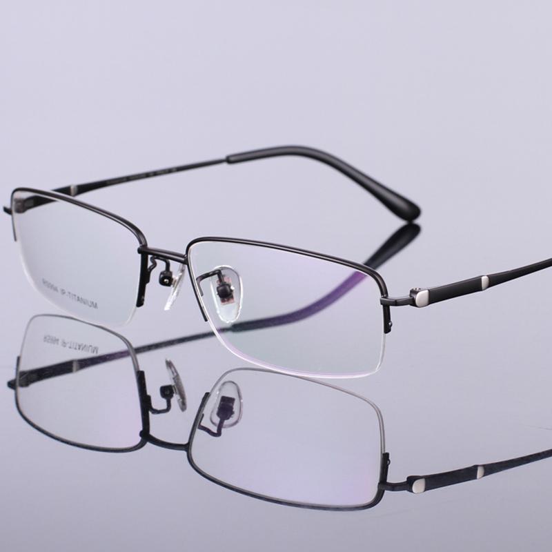 Brand Design Fashion Quality Eye Glass Optical Eyewear Black Pure Titanium Glasses Frame Gentlemen Optical Glasses(China (Mainland))