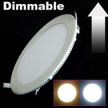 Hot Sales Round/Square 12W/15W/25W Dimmable LED Panel Light for Home 2835SMD AC85-265V 10PCS/LOT 2 Years Warranty(China (Mainland))