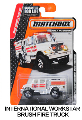 Authorized sales Hot Wheels Matchbox Series brush fire truck kids toys Plastic metal miniatures cars model 30782 collectible toy(China (Mainland))