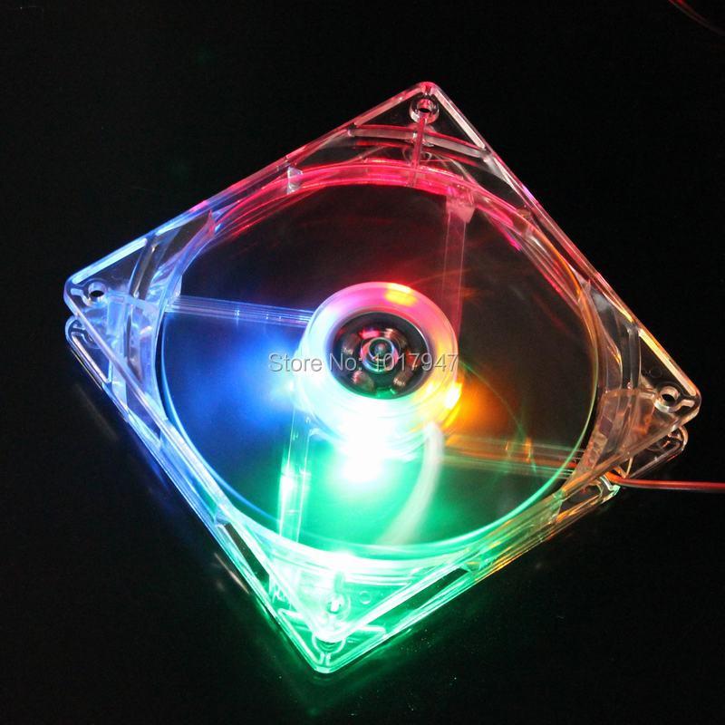 5 PCS/LOT GDT White Case Colorful LED Brushless Cooling Fan DC 12V 4P Cooler Heatsink 120mm 120*120x25mm 12025S Radiator<br><br>Aliexpress