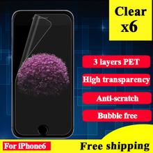 Ultra Clear Protector de Pantalla Para El Iphone 6 6 S Película Protectora Para Iphone 6 Protector de Pantalla Transparente Para El Iphone 6 Película Protectora 6 unid(China (Mainland))