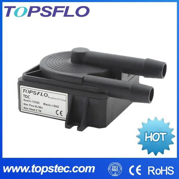2015 New Brand TOPSFLO TDC 50000h Long lifetime Silent Brushless DC PC water pump for computer cooling(China (Mainland))