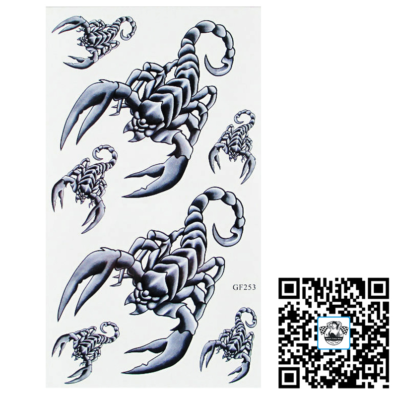 Как сделать татуировку скорпион 851