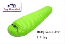 Buy LMR goose 1000G filling outdoor camping splicing mummy ultra-light sleeping bag for $95.58 in AliExpress store