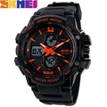 Skmei Analog Digital Watches for Men Sport Watches LED Display Back Light Alarm Auto Date Water Resistant 3ATM Wristwatches