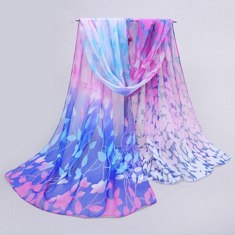 2015 new chiffon georgette fashion scarves women summer sunblock cape flower print scarf shawl 160*50cm(China (Mainland))