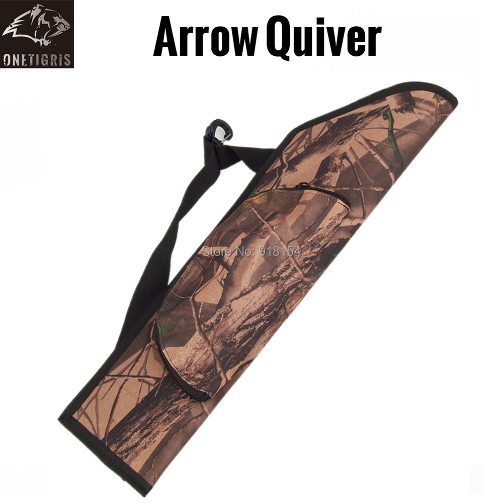 OneTigris Camo Archery Arrow Belt Quiver Hunting Hip Quiver Camo Arrow Holder With Belt BACK SIDE
