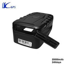 Larger Capacity 20000mAH Battery GPS Monitoring Tracker For Car Vehical Contanier Strong Magnet Rastreador Veicular LK209C(China (Mainland))