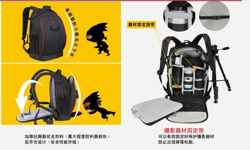 Caden K7 Waterproof Nylon Portable Camera Bag Backpack For Canon Nikon Out Door Diagonal Triangle Carry Bag (China (Mainland))
