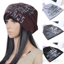 Women's Men's Unisex Fashion Letter Hip-hop Baggy Beanie Cotton Blend Sport Hat Cap