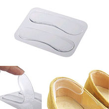 1 Pair  Women Ladies Girls Transparent Silicone Gel Heel Cushion protector Feet Care Shoe Insert Pad Insole New(China (Mainland))