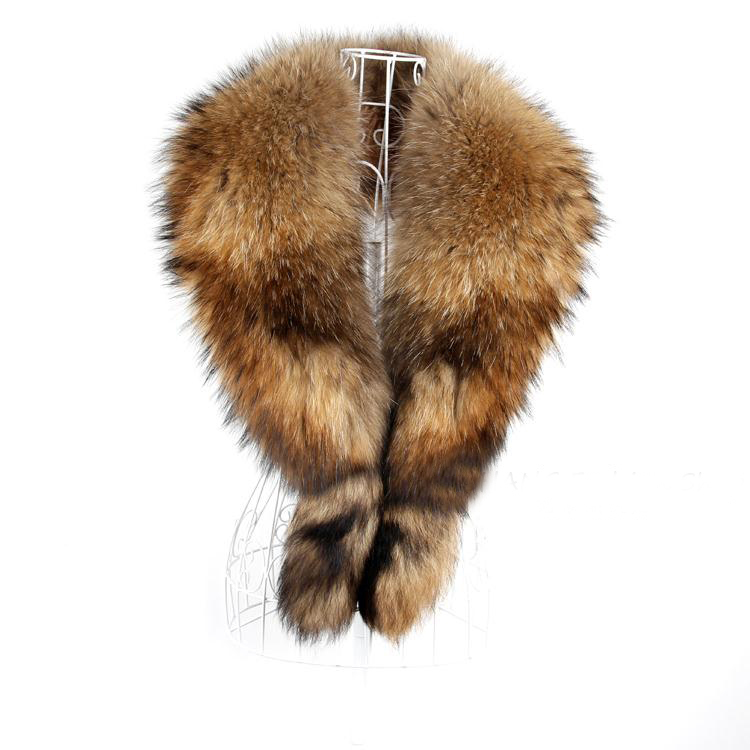 Real Genuine Big Raccoon Fur Collar scarf warp shawl neck warmer big size(China (Mainland))