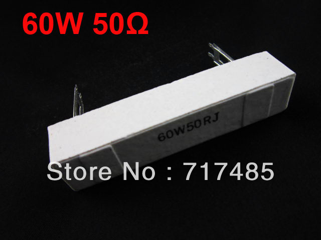 Wirewound Resistor 60W 50 Ohm +/-5% Tolerance Cement Power Resistor Fixed Type 5pcs Free Shipping