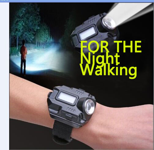 New Portable CREE XPE Q5 R2 LED Wrist Watch Flashlight Torch Light USB Charging Wrist Model