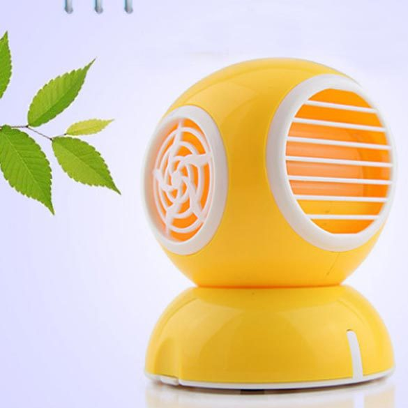 USB Perfume Turbine Fan Air Conditioner Mini Bladeless Desk Cooler Yellow Wen(China (Mainland))