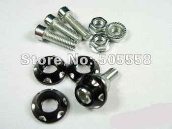 20pcs/Lot Motorcycle Accessories Motorbike Windscreen Fairing Decoration Screws Bolts Motorcycle Parts Black Color Free BLK01