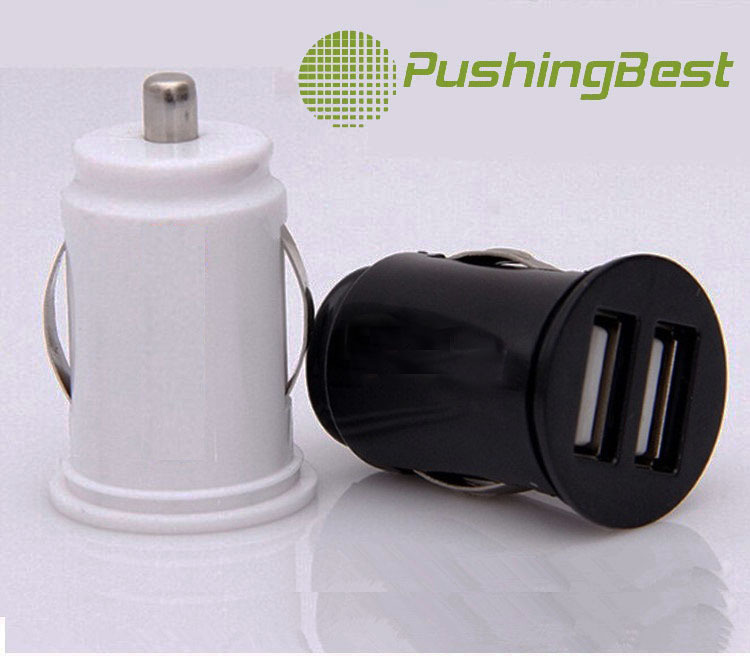 high quality PC martial fast charging 2.1A Dual USB Car Charger Best Cost-effective overload protection safe car charger(China (Mainland))