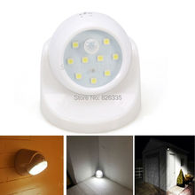 Security 9 LED Led Motion Sensor Night Light 360 Degree Rotation Children's Nightlight Auto PIR Detector Lamp(China (Mainland))
