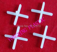 100pcs/bag 1.0mm with handle plastic cross/ tice spacer/tracker/locating/ceramic cross  white color locate the ceramic tile(China (Mainland))