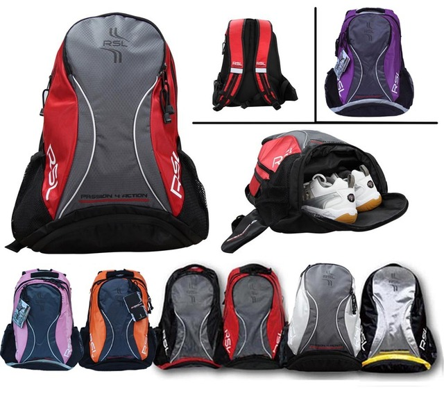 RSL Professional Badminton Bags Athletic Bags 901 for 3 Rackets,Sports Bag,Waterproof Travel Bags,Backpack for Men and Women 078