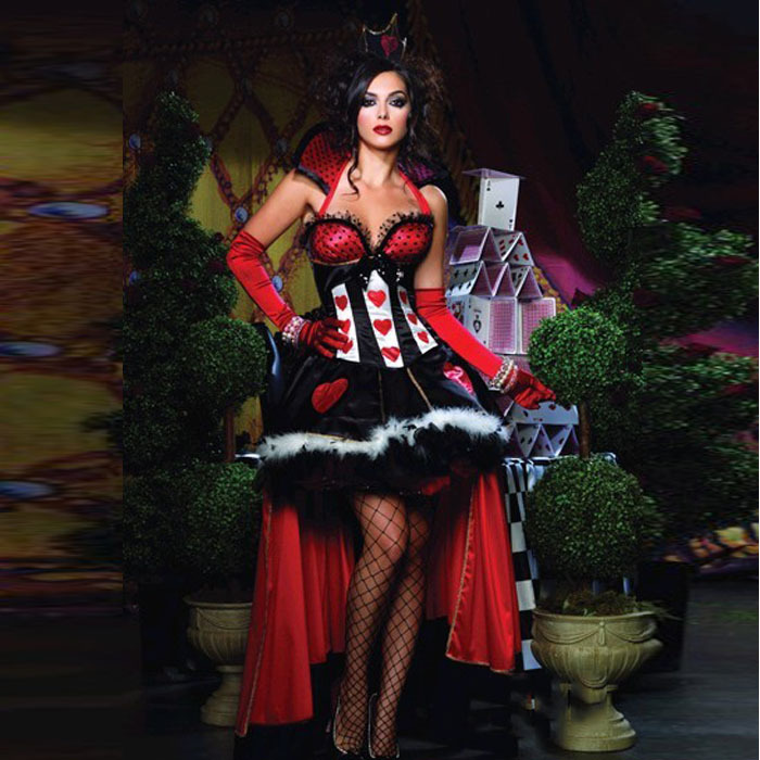 queen of hearts costume women adult alice in wonderland. Black Bedroom Furniture Sets. Home Design Ideas
