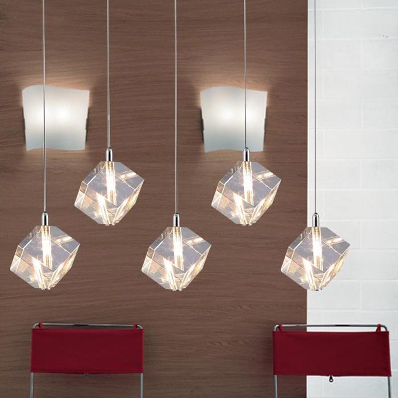 dining room light restaurant kitchen bar shop crystal hanging lamp