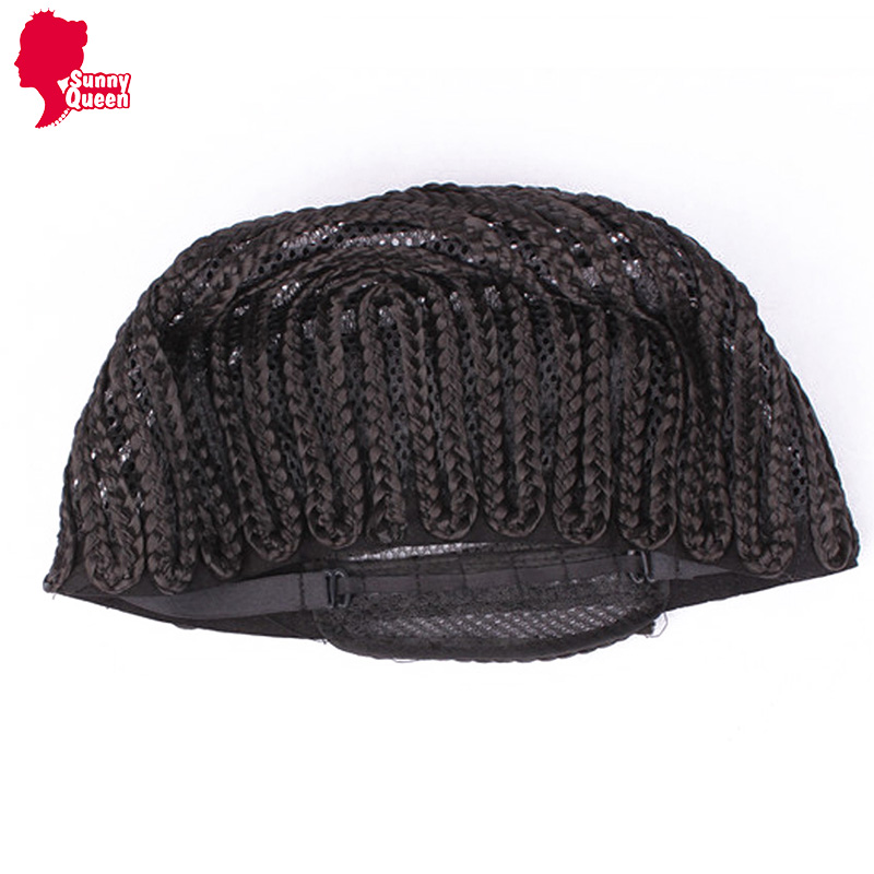 A Cornrows Cap For Easier Sew Ins! 1Pc Weaving Cap With Braids Wig Cap Less Stress On Your Natural Hair and Convenience of a Wig<br><br>Aliexpress