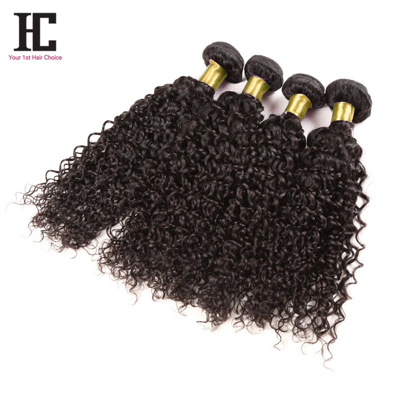 HC Hair Malaysian Curly Hair 4 Bundles 6A Unprocessed Bundle Deal Kinky Curly Nature Black Cheap Human Hair And Free Shipping<br><br>Aliexpress
