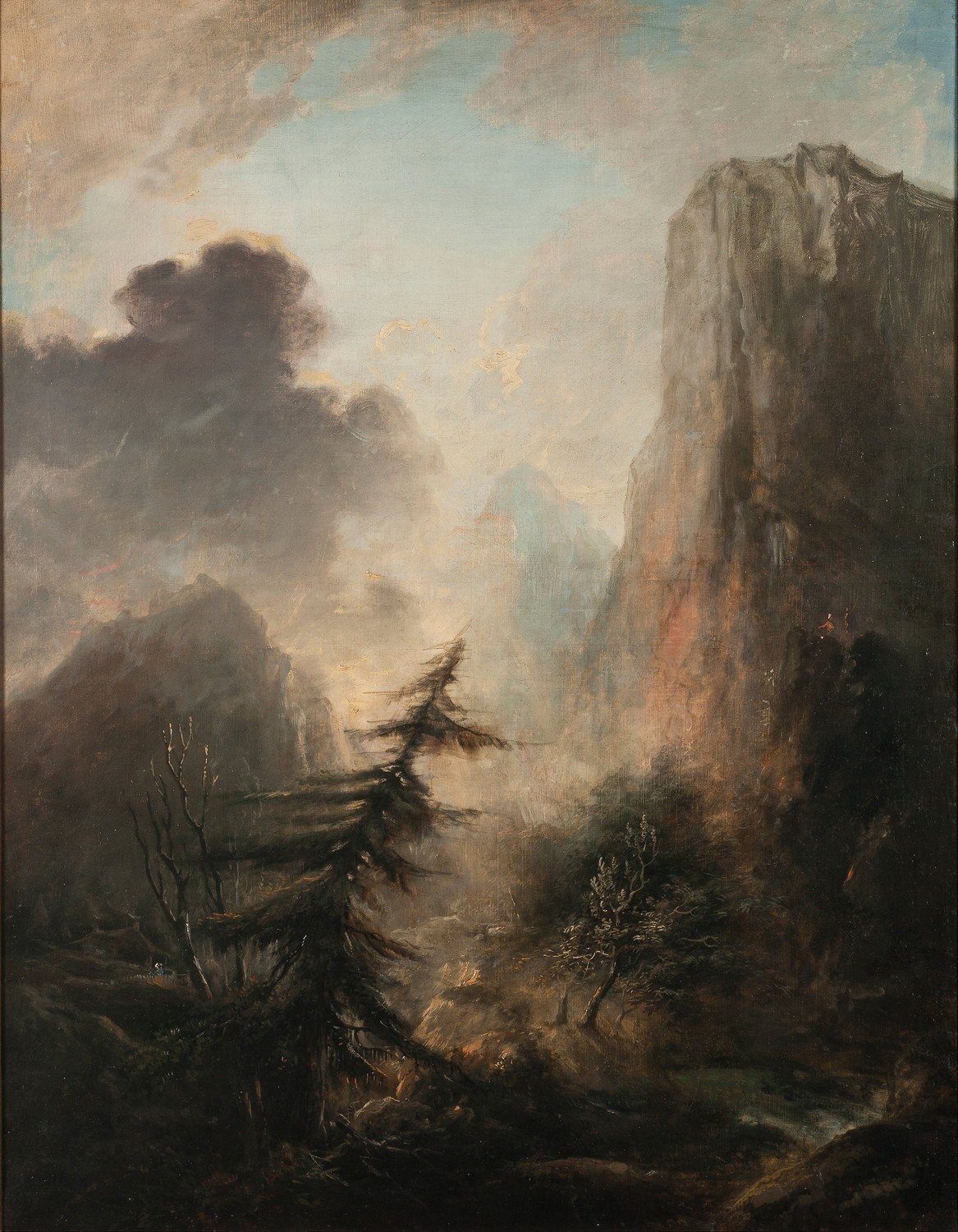 Unframed Canvas Prints - Romantic Landscape With Spruce - Elias Martin(China (Mainland))