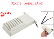 "AC 300V 3W 57"" Long Wired Ozone Generator Ozonator Air Purifier White Black 2pcs(China (Mainland))"