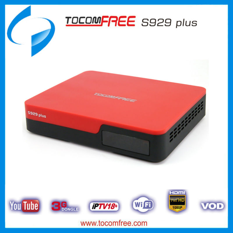 South America tv satelital tocomfree s929 plus with iks sks free and support iptv 3G for Latin America(China (Mainland))