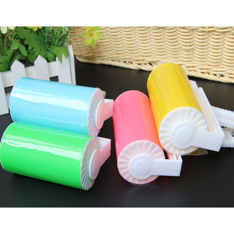 Portable Sticky Dust Lint Roller Fluff Pet Hair Dust Remover Lint Sticking Dusting Roller For Easy Household Cleaning Tools(China (Mainland))