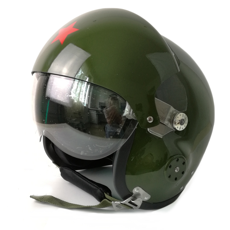 Cool ! TK Chinese Military Air Force Jet Pilot Open Face Dual Lens Motorcycle Helmet & Visor SIZE L(China (Mainland))