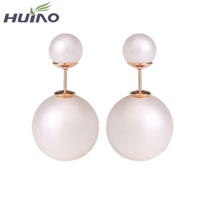 2015 Cc Brinco Trendy Round New Fashion Paragraph Hot Selling Earrings Double Side Shining Pearl(15mm) Stud Big Pearl For Women(China (Mainland))